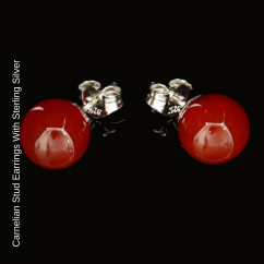 Carnelian Stud Earrings blog