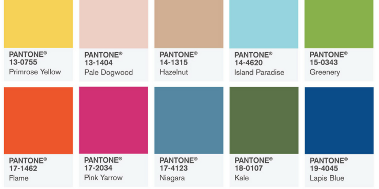 Pantone Colours Blog