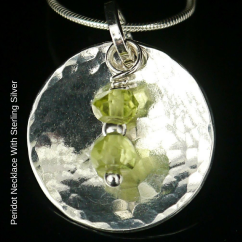 Peridot Necklace with Sterling Silver blog