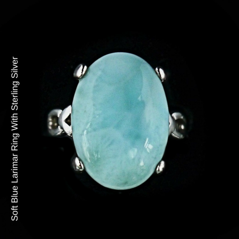 Soft Blue Larimar Ring With Sterling Silver blog