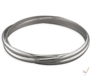 Triple Solid Silver Russian Bangle
