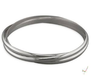 Triple Solid Silver Russian Bangle