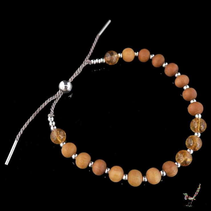 Citrine, citrine gemstone, gemstone bracelet, bracelet, citrine bracelet, sandalwood, jewellery, silver, sterling silver, jewelry