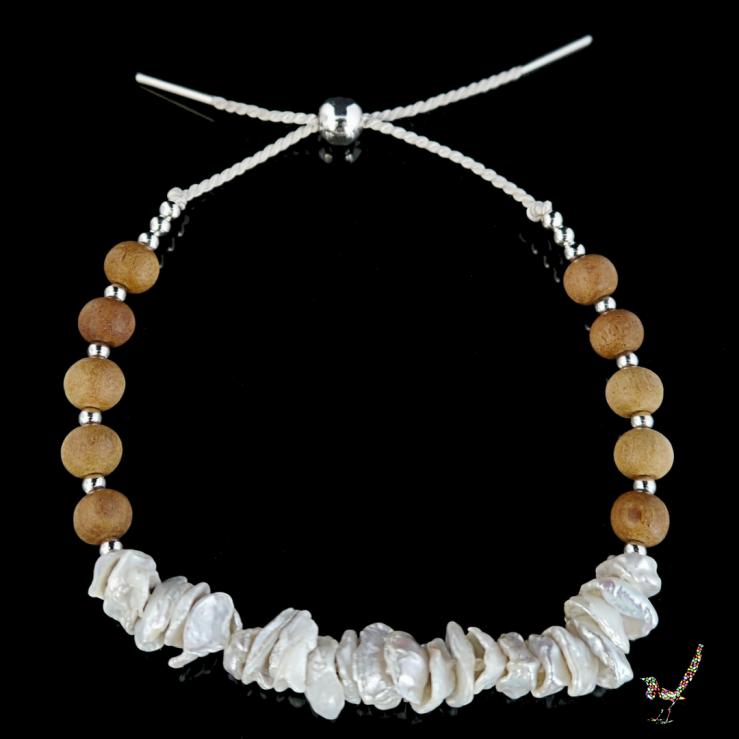 keshi pearl, pearl bracelet, bracelet, keshi pearl bracelet, sandalwood, jewellery, silver, sterling silver, jewelry, sandalwood bracelet