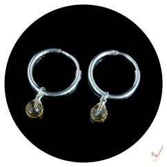 citrine, citrine earrings, hoop earrings, gemstone earrings, silver hoop earrings, handcrafted earrings, silver earrings, gemstone jewellery, sterling silver jewellery, silver jewellery