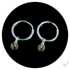 citrine, citrine earrings, hoop earrings, gemstone earrings, silver hoop earrings, handcrafted earrings, silver earrings, gemstone jewellery, sterling silver jewellery, silver jewellery