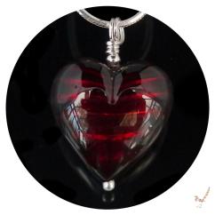 murano glass, heart necklace, heart, murano glass necklace, gift, murano glass heart necklace, handcrafted jewellery