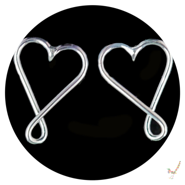 silver earrings, heart earrings, silver heart earrings, sterling silver earrings, infinity heart earrings, handcrafted jewellery, handcrafted jewelry, silver stud earrings, silver studs