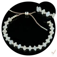 moonstone, moonstone bracelet, friendship bracelet, slider bracelet, gemstone bracelet, handcrafted bracelet, jewellery, jewelry, moonstone silver bracelet