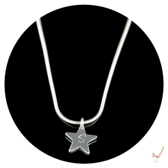 silver necklace, star necklace, silver necklace, personalised jewellery, necklace, personalised necklace, children's jewellery, girls jewellery, jewelry, charm necklace