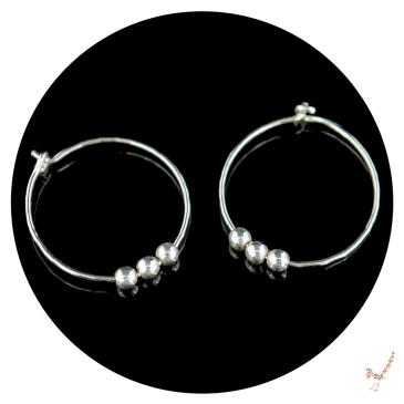 hoop earrings, silver hoop earrings, silver earrings, sterling silver earrings, handcrafted earrings