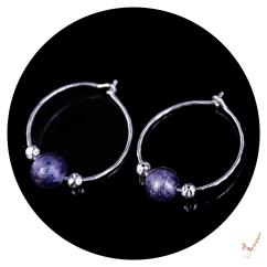 hoop earrings, murano glass hoop earrings