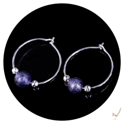 hoop earrings, murano glass hoop earrings