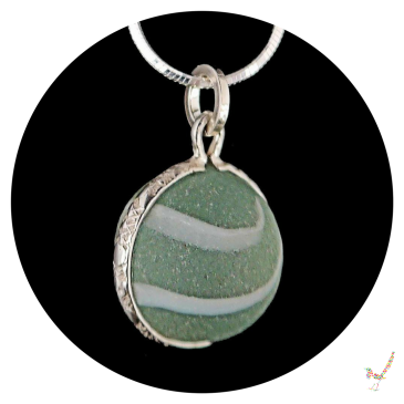 sea glass, sea glass jewellery, sea glass necklace, sea glass marble necklace, sterling silver, beach glass