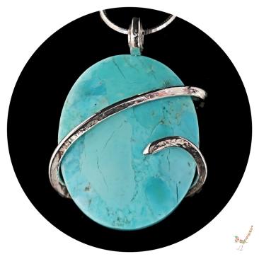 turquoise necklace, turquoise pendant, kingman turquoise