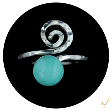 turquoise ring, sterling silver turquoise ring, turquoise cabochon ring, silver and turquoise ring,